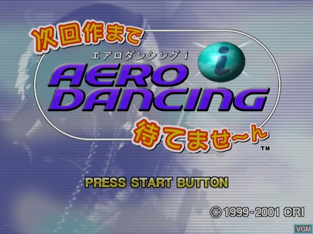 Title screen of the game Aero Dancing i - Jikai-saku made Matemasen on Sega Dreamcast