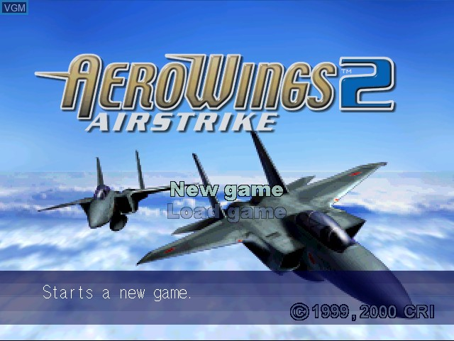 Title screen of the game AeroWings 2 - Airstrike on Sega Dreamcast