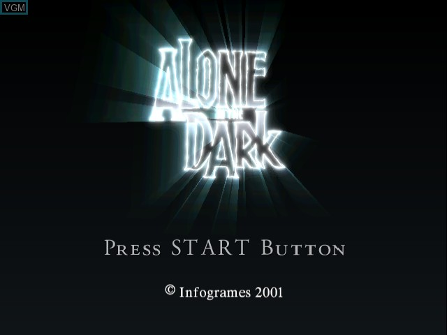 Title screen of the game Alone in the Dark - The New Nightmare on Sega Dreamcast