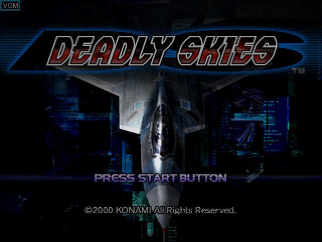 Title screen of the game Deadly Skies on Sega Dreamcast