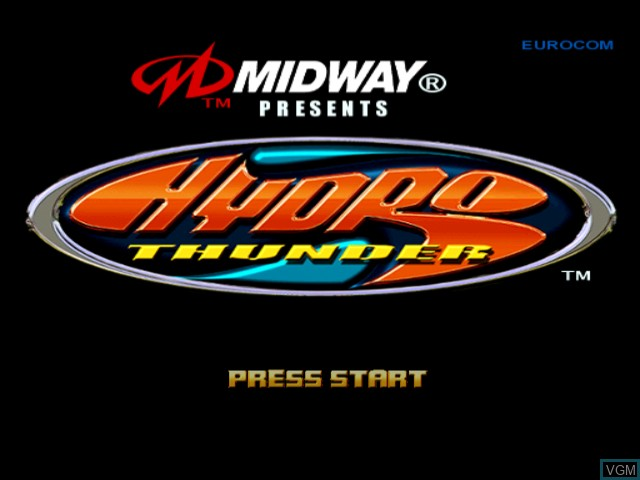 Title screen of the game Hydro Thunder on Sega Dreamcast