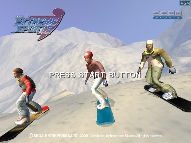 Title screen of the game Sega Extreme Sports on Sega Dreamcast