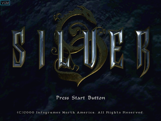 Title screen of the game Silver on Sega Dreamcast