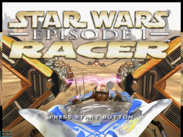 Title screen of the game Star Wars - Episode I - Racer on Sega Dreamcast
