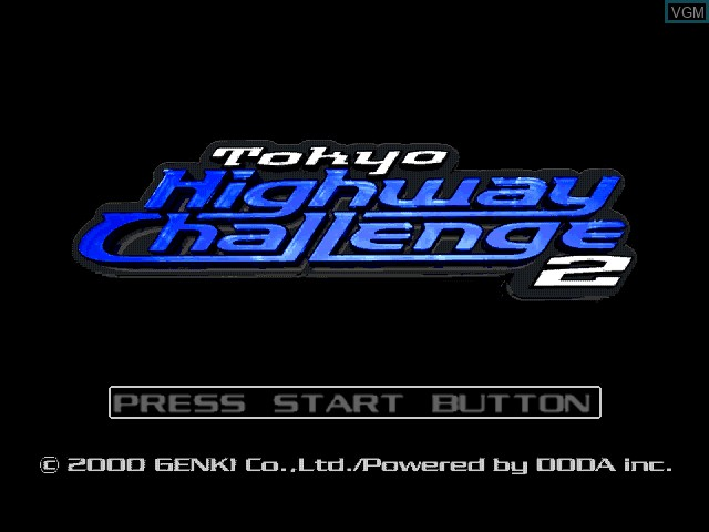 Title screen of the game Tokyo Highway Challenge 2 on Sega Dreamcast
