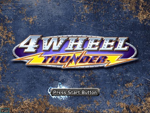 Title screen of the game 4 Wheel Thunder on Sega Dreamcast