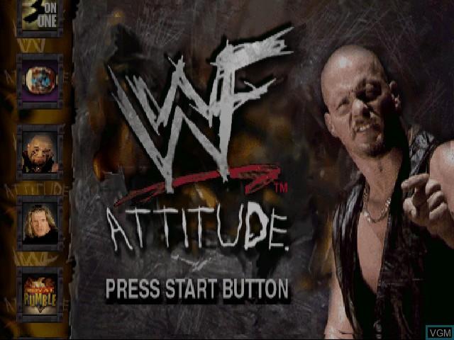 Title screen of the game WWF Attitude on Sega Dreamcast