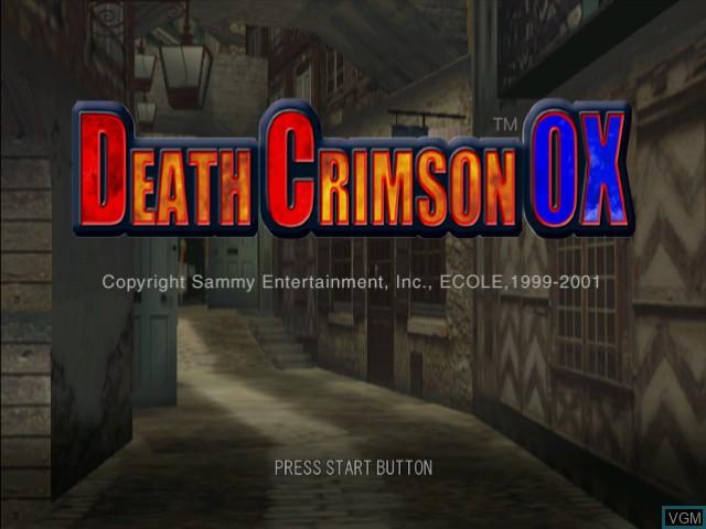 Title screen of the game Death Crimson OX on Sega Dreamcast