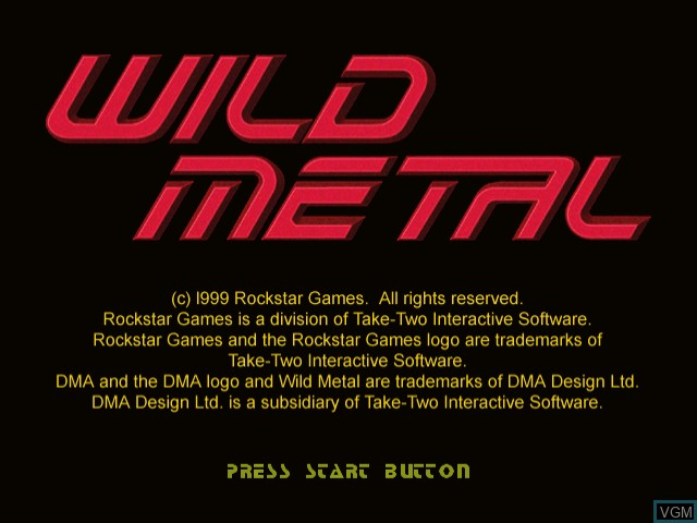 Title screen of the game Wild Metal on Sega Dreamcast