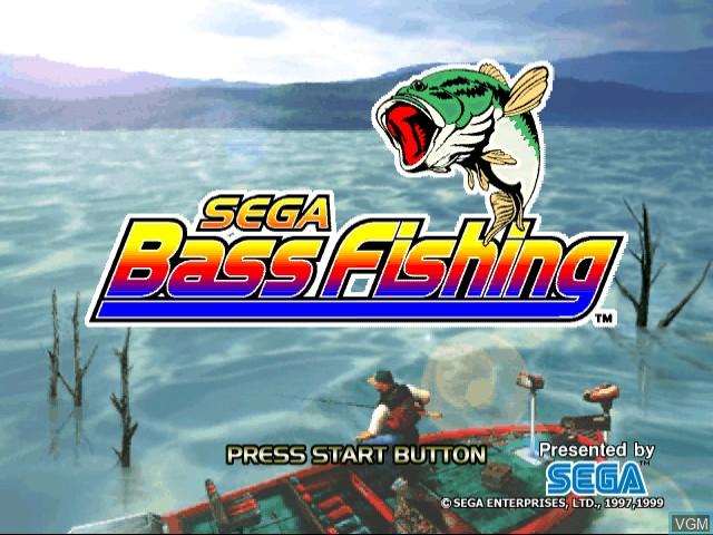 Title screen of the game Sega Bass Fishing on Sega Dreamcast