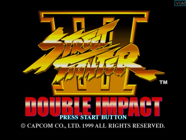 Title screen of the game Street Fighter III - Double Impact on Sega Dreamcast