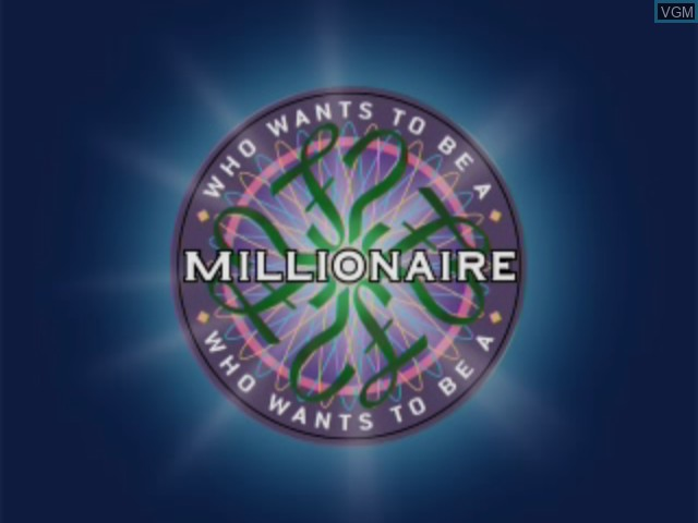 Title screen of the game Who Wants to Be a Millionaire on Sega Dreamcast