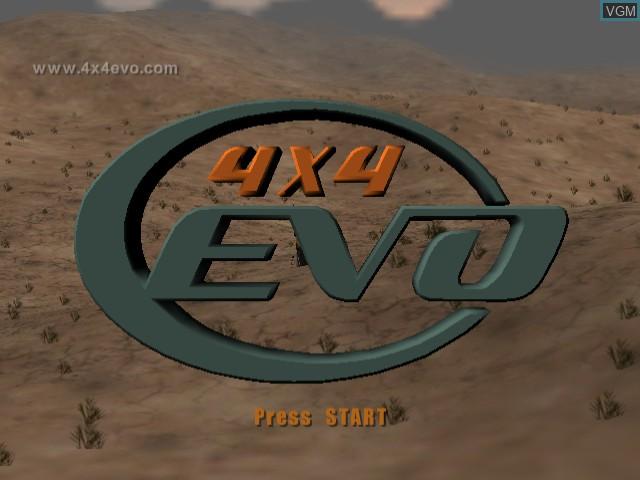 Title screen of the game 4x4 Evo on Sega Dreamcast
