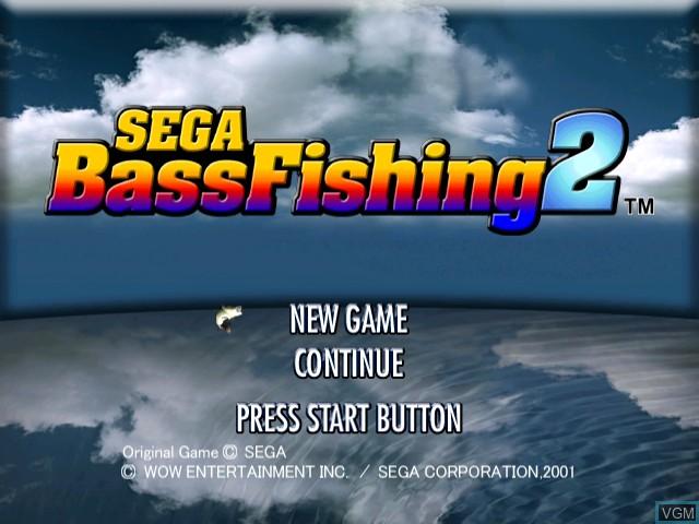 Title screen of the game Sega Bass Fishing 2 on Sega Dreamcast
