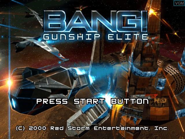Title screen of the game Bang! Gunship Elite on Sega Dreamcast