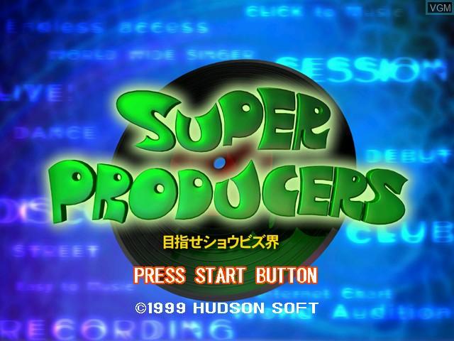 Title screen of the game Super Producers - Mezase Show Biz Kai on Sega Dreamcast
