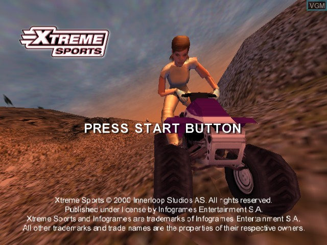 Title screen of the game Xtreme Sports on Sega Dreamcast