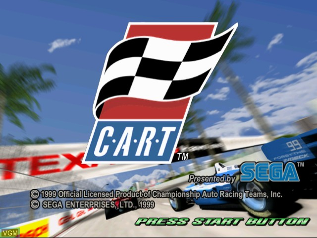 Title screen of the game Flag to Flag on Sega Dreamcast