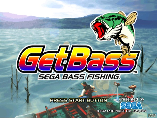 Title screen of the game Get Bass - Sega Bass Fishing on Sega Dreamcast