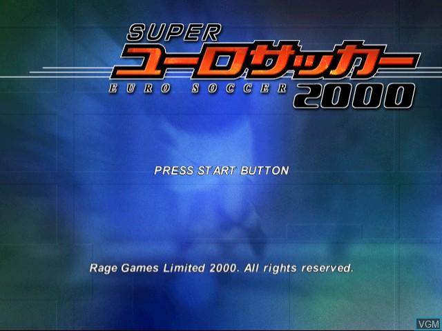 Title screen of the game Super Euro Soccer 2000 on Sega Dreamcast