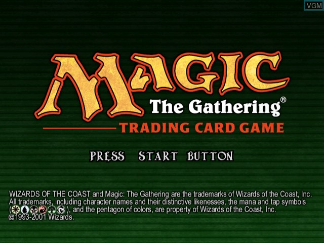 Title screen of the game Magic - The Gathering on Sega Dreamcast