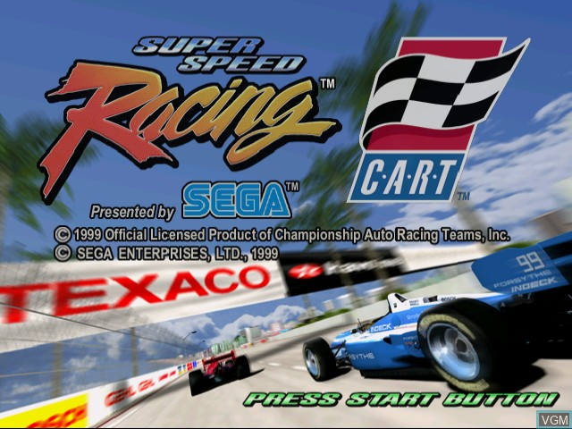 Title screen of the game Super Speed Racing on Sega Dreamcast