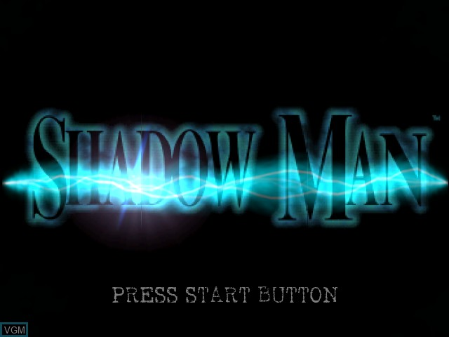 Title screen of the game Shadow Man on Sega Dreamcast
