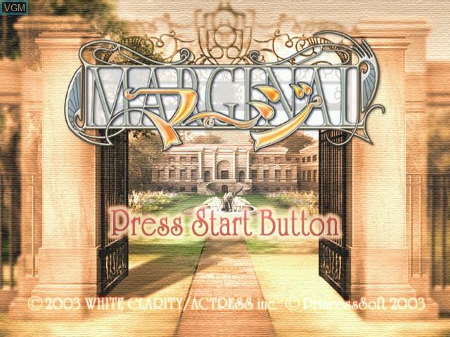 Title screen of the game Margi - Marginal on Sega Dreamcast