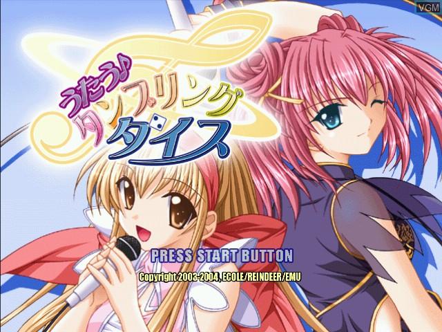 Title screen of the game Utau - Tumbling Dice on Sega Dreamcast