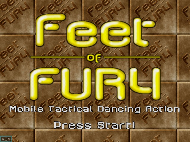 Title screen of the game Feet of Fury on Sega Dreamcast