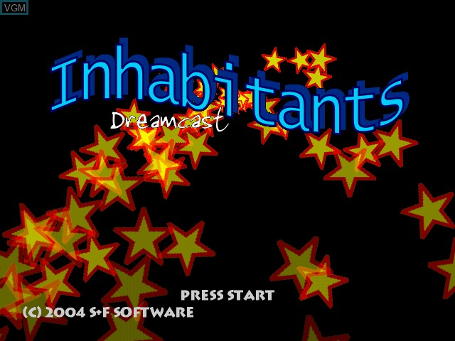 Title screen of the game Inhabitants on Sega Dreamcast