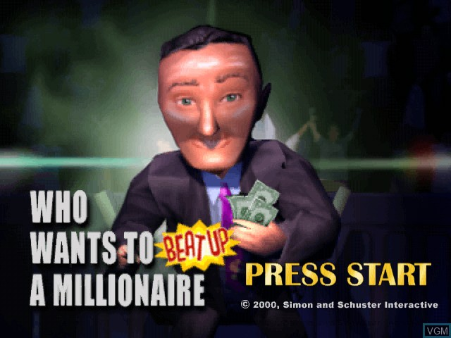 Title screen of the game Who Wants to Beat Up a Millionaire on Sega Dreamcast