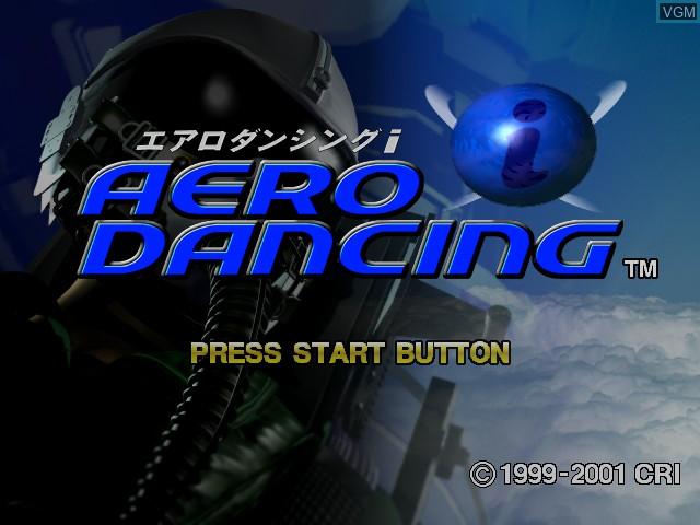 Title screen of the game Aero Dancing i on Sega Dreamcast