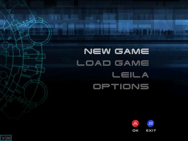 Menu screen of the game Headhunter on Sega Dreamcast