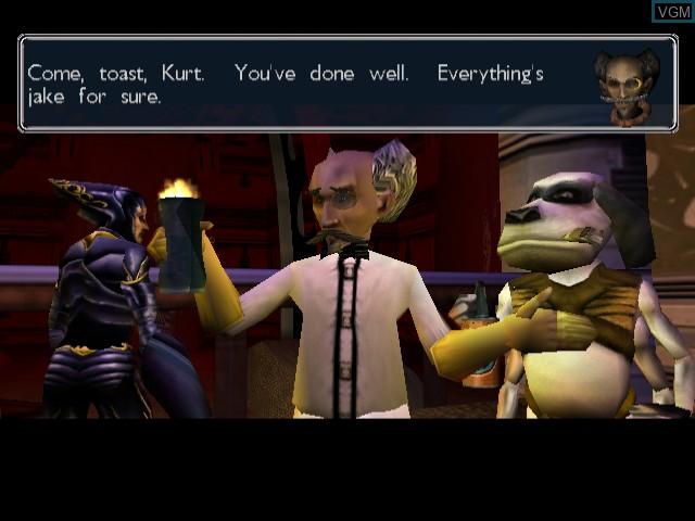 Menu screen of the game MDK 2 on Sega Dreamcast