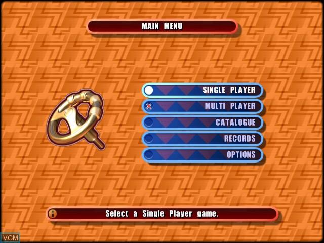 Menu screen of the game Stunt GP on Sega Dreamcast