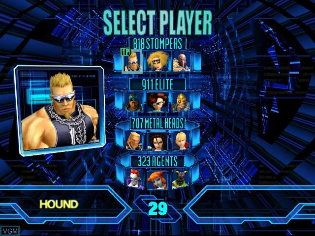 Menu screen of the game Heavy Metal - Geomatrix on Sega Dreamcast