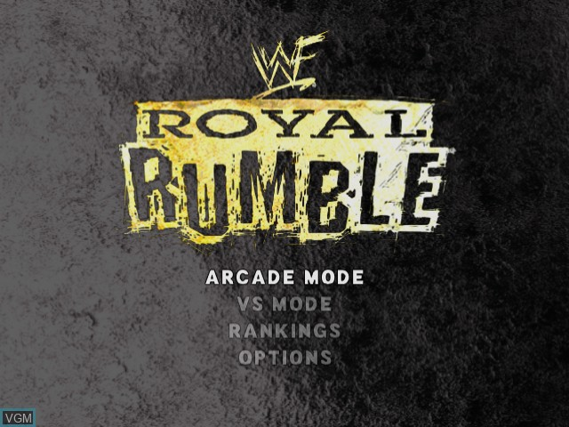 Menu screen of the game WWF Royal Rumble on Sega Dreamcast