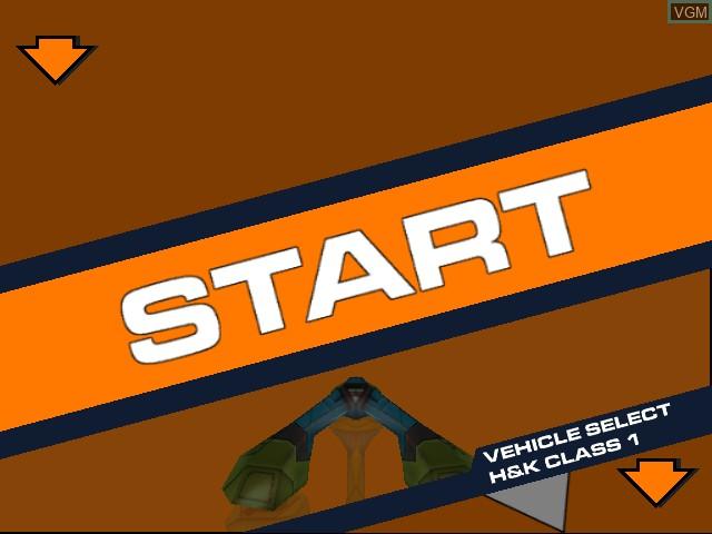 Menu screen of the game Magforce Racing on Sega Dreamcast