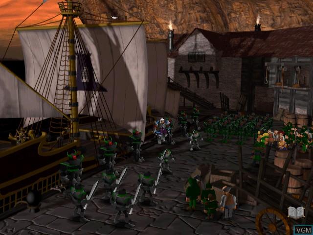 Menu screen of the game Silver on Sega Dreamcast