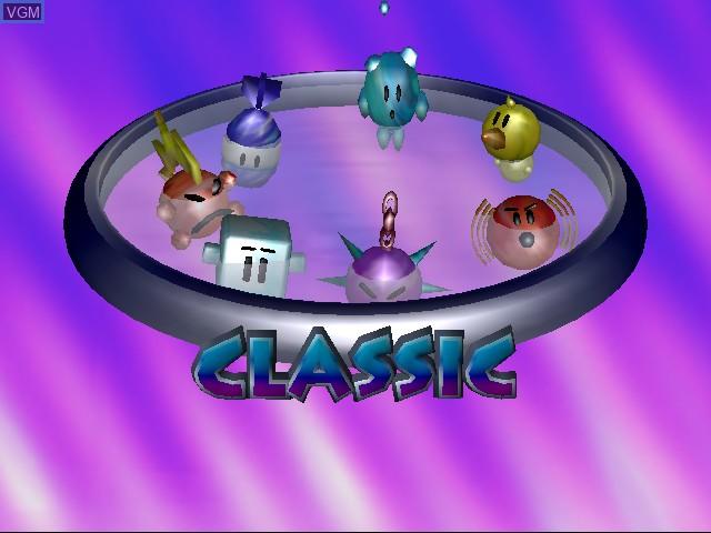 Menu screen of the game Wetrix+ on Sega Dreamcast
