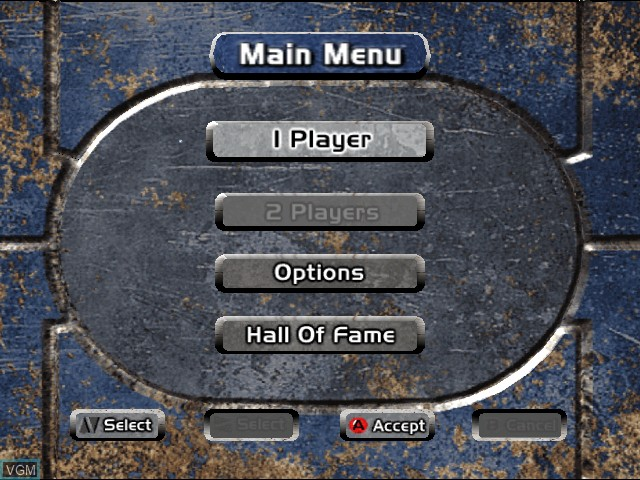 Menu screen of the game 4 Wheel Thunder on Sega Dreamcast