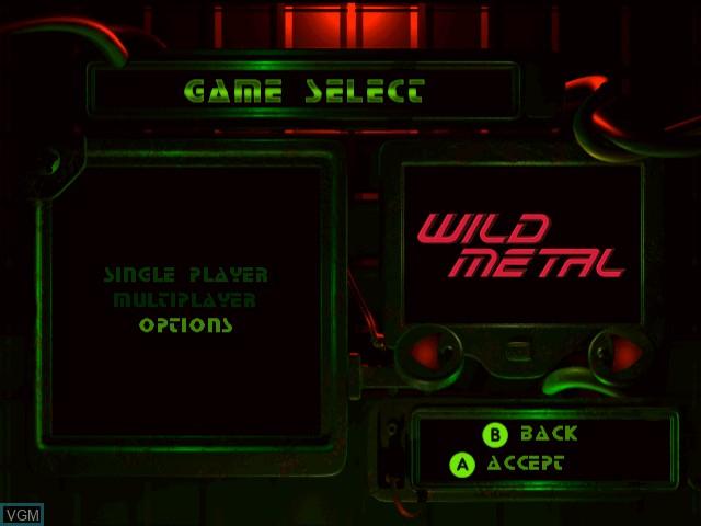 Menu screen of the game Wild Metal on Sega Dreamcast