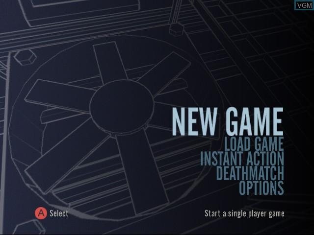 Menu screen of the game StarLancer on Sega Dreamcast