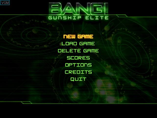 Menu screen of the game Bang! Gunship Elite on Sega Dreamcast