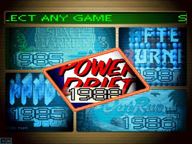 Menu screen of the game Yu Suzuki Game Works Vol. 1 on Sega Dreamcast