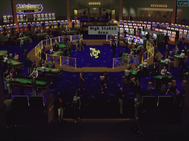 Menu screen of the game Hoyle Casino on Sega Dreamcast