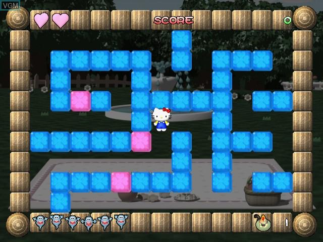 Menu screen of the game Hello Kitty - Magical Block on Sega Dreamcast