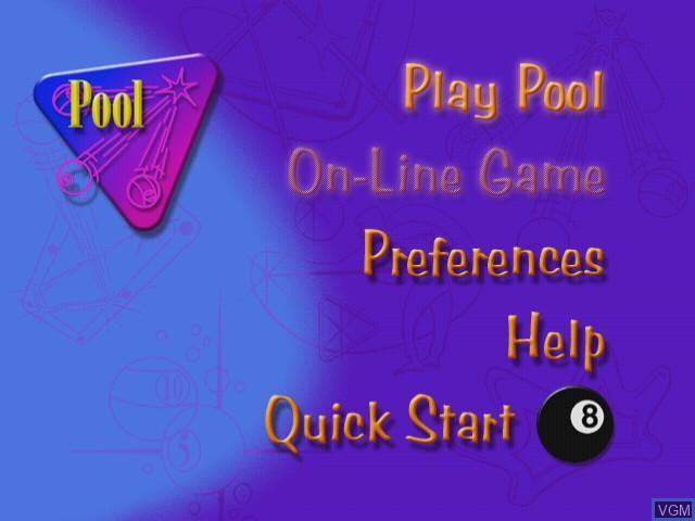 Menu screen of the game Maximum Pool on Sega Dreamcast