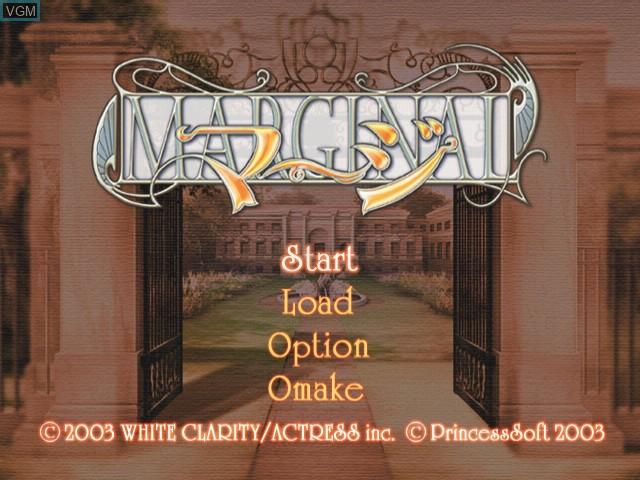 Menu screen of the game Margi - Marginal on Sega Dreamcast